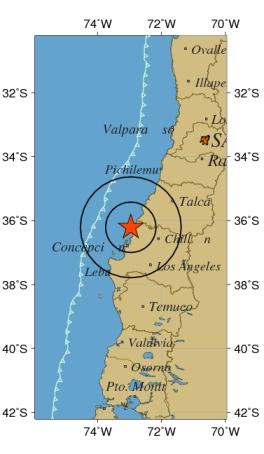 Sismo Magnitud 8.3 , 27 de Febrero del 2010 - Hora Local: 03:34